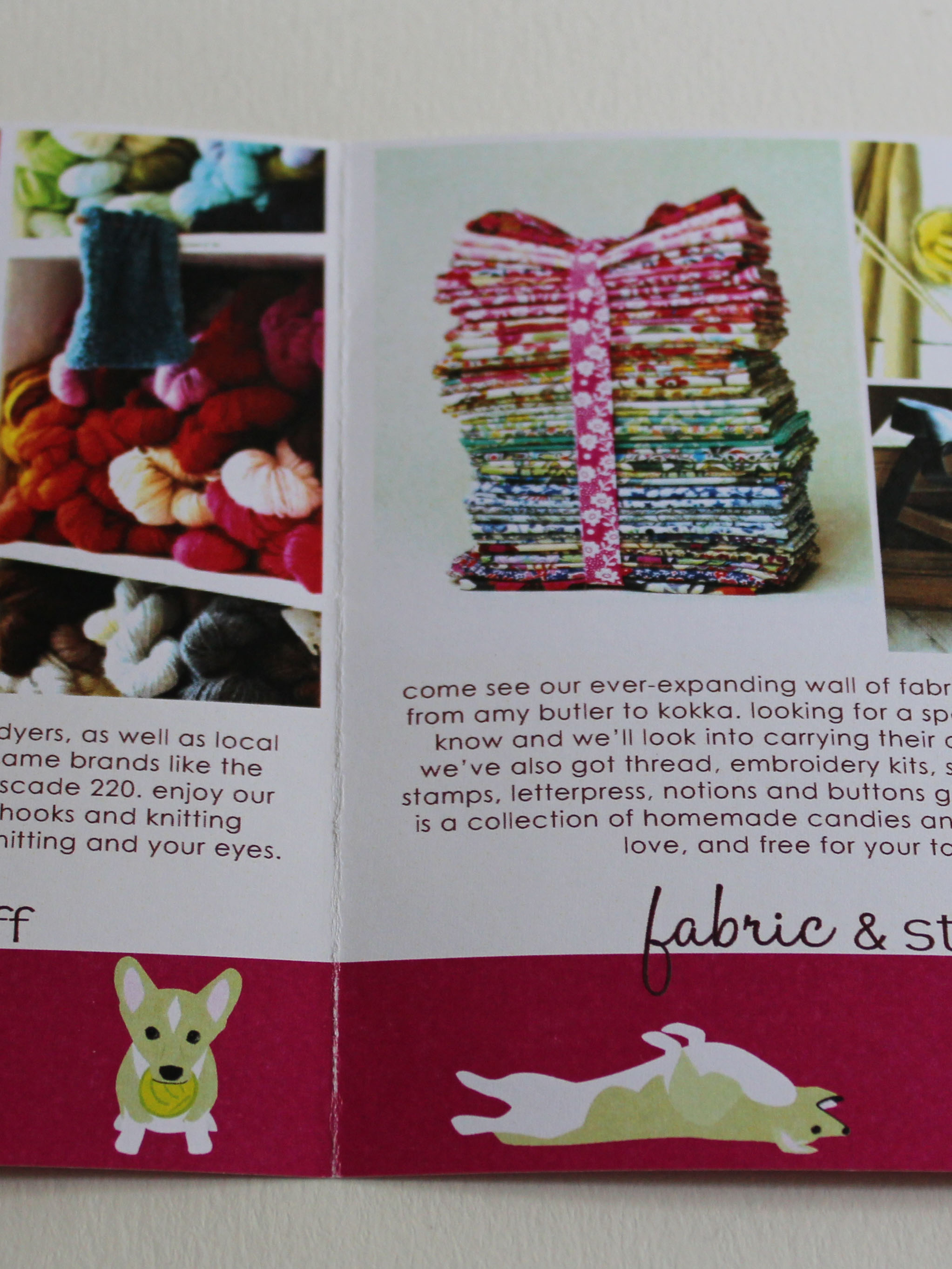 Knits & Stuff Brochure Inside Detail